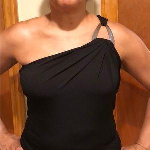 🌺Michael Kors One-shoulder Black blouse